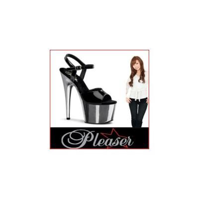 """サンダル プリーザー pleaser ADORE-709 7"""" Heel ado709-b-sch   レディース 靴 お取り寄せ商品"""