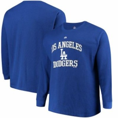Majestic マジェスティック スポーツ用品  Majestic Los Angeles Dodgers Royal Thermal Crew Long Sleeve T-Shirt