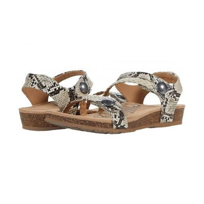 Aetrex エートレックス レディース 女性用 シューズ 靴 サンダル Jillian Quarter Strap - Snake