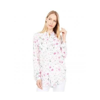 Joules レディース 女性用 ファッション ブラウス Button Through Shirt w/ Patch Pockets - Cream Floral