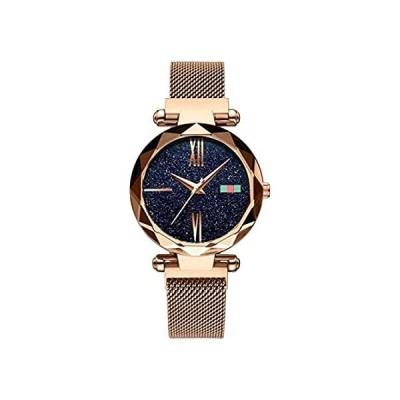 Luxury Starry Sky Women's Watch Magnetic Buckle Stainless Steel Mesh Strap