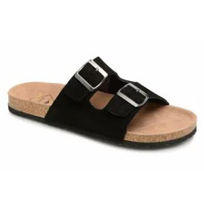 Roadsign メンズサンダル Sandals Tanloo Black Croute Noir
