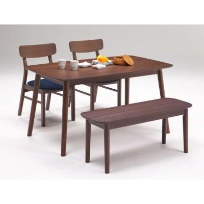 ダイニングテーブルセット 4人 レシピ ブラウン色 ベンチ