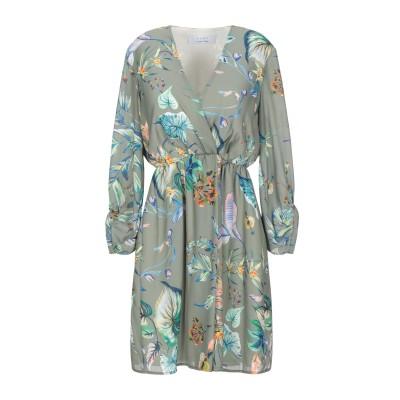 カオス KAOS ミニワンピース&ドレス ミリタリーグリーン 40 ポリエステル 100% ミニワンピース&ドレス