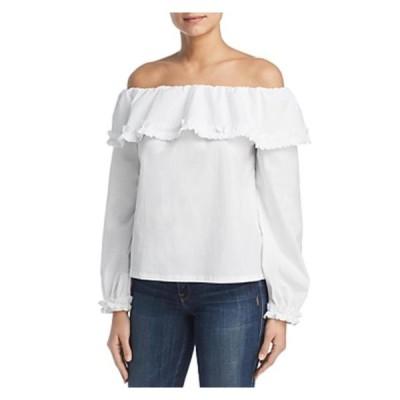 レディース 衣類 トップス Marled Reunited Clothing Womens Off-The-Shoulder Ruffled Pullover Top ブラウス&シャツ