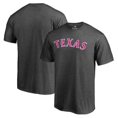 ファナティクス ブランデッド メンズ Tシャツ トップス Texas Rangers Fanatics Branded 2019 Mother's Day Pink Wordmark T-Shirt