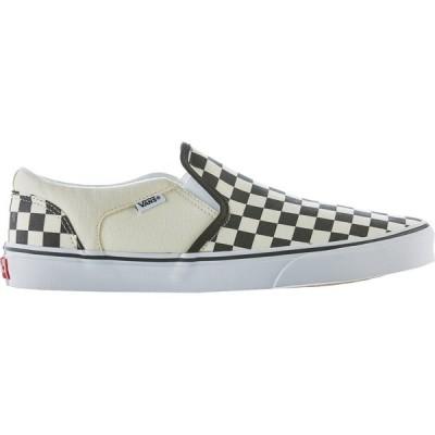 バンズ スニーカー シューズ メンズ Vans Men's Asher Shoes White/Black