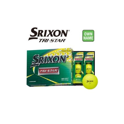【オンネーム対応】ダンロップ SRIXON スリクソン TRI-STAR ゴルフボール 3ダース(36球入り) プレミアムパッションイエロー トライスター DUNLOP