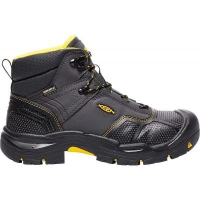 キーン Keen メンズ ブーツ ワークブーツ シューズ・靴 KEEN Logandale Waterproof Steel Toe Work Boots Raven/Black