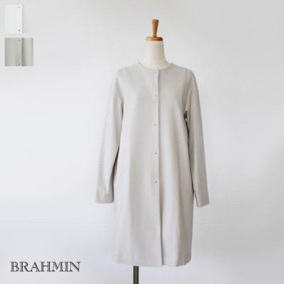 SALE [30%OFF] BRAHMIN (ブラーミン) コットン ニット ノーカラー コート B83120 返品不可