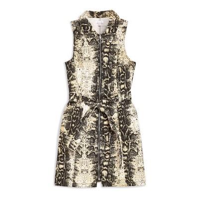 トップショップ TOPSHOP ミニワンピース&ドレス サンド 6 コットン 100% ミニワンピース&ドレス