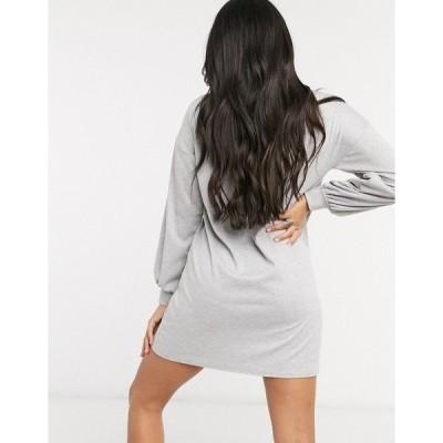 ストリート コレクティブ  レディース ワンピース トップス Street Collective mini dress in gray marl Gray heather