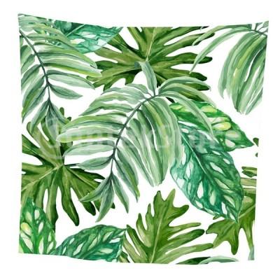 熱帯植物プリントテーブルクロス花柄テーブルカバースクエア12