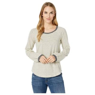 ラッキーブランド Lucky Brand レディース Tシャツ トップス Balloon Sleeve Stripe Top White Stripe