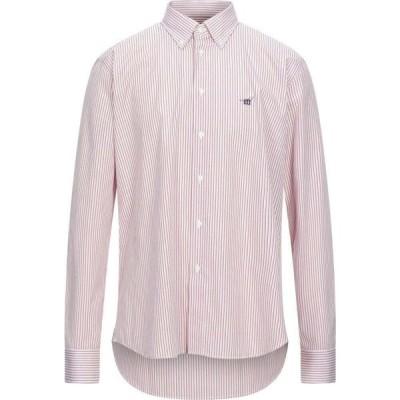 ヘンリーコットンズ HENRY COTTON'S メンズ シャツ トップス Striped Shirt Red