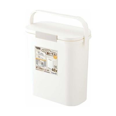 リス ゴミ箱 運べる防臭ペール10S ホワイト 10L H&H 日本製