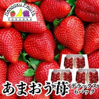 南国フルーツ【予約販売】福岡産あまおう苺・デラックス6パック