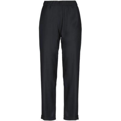 WHYCI パンツ ブラック 48 ウール 48% / ポリエステル 24% / レーヨン 24% / ポリウレタン 4% パンツ