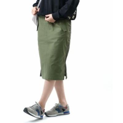 フレッドペリー ストレートスカート ミリタリースカート MIX PANEL SKIRT FRED PERRY F8588 国内正規品 2020秋冬新作 送料無料