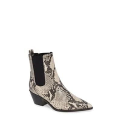 ペイジ レディース ブーツ&レインブーツ シューズ Willa Snake Embossed Leather Chelsea Boot ROCCIA SNAKE PRINT