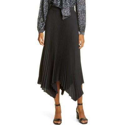 トリー バーチ TORY BURCH レディース ひざ丈スカート スカート Sunburst Pleat Midi Skirt Black