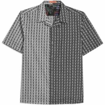 テッドベーカー Ted Baker メンズ 半袖シャツ トップス Traila Ss Flower Geo Mash Up Shirt BLACK