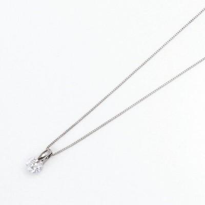 シンプルダイヤモンド プラチナダイヤネックレス DPTNC021
