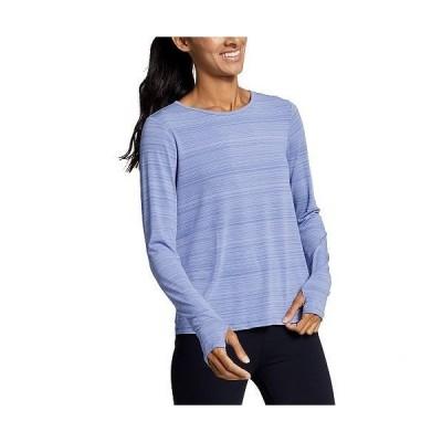 Eddie Bauer エディーバウアー レディース 女性用 ファッション アクティブシャツ Trail Light Long Sleeve Tie Back Crew - Metal Blue