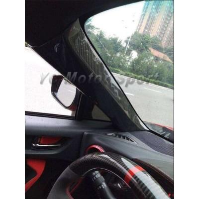 【送料無料】86ー BRZ ZN6 ZC6 Aピラーカバー ドライカーボン 2ピース 2012-2017 内装【領収発行可】