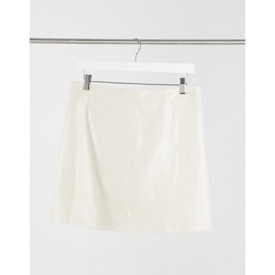 スカイラーローズ Skylar Rose レディース ミニスカート スカート mini skirt in faux leather クリーム