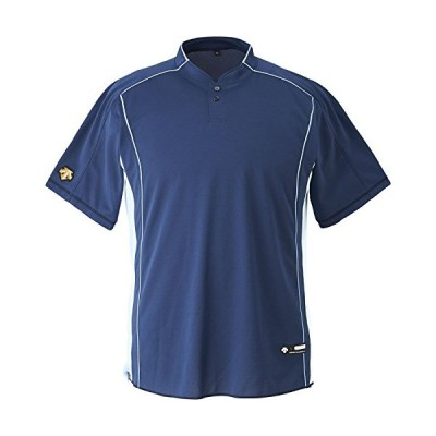 DESCENTE(デサント) 野球 立衿2ボタンベースボールシャツ ネイビー XAサイズ DB109B