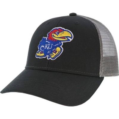 リーグレガシー League-Legacy メンズ キャップ トラッカーハット 帽子 Kansas Jayhawks Lo-Pro Adjustable Trucker Black Hat