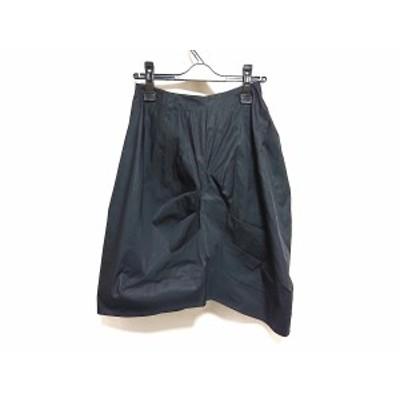 フォクシー FOXEY スカート サイズ38 M レディース - 黒 ひざ丈【中古】20201229