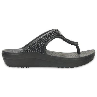 クロックス スローン エンベリッシュド フリップ ウィメン crocs sloane embellished flip w/アウトレット在庫処分 店頭戻り品