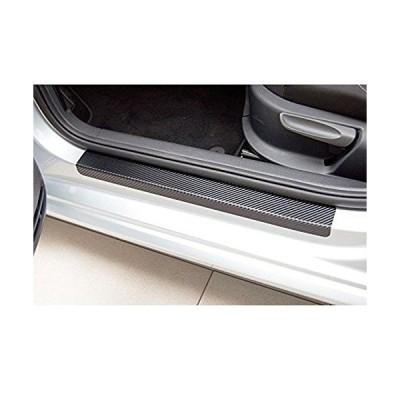 wangten ドアシルカーボンファイバー 自動車 ドアプロテクター 車カーボンファイバー 車の炭素繊維ドア スカッフプレート 車ドアシル保護ステッカ
