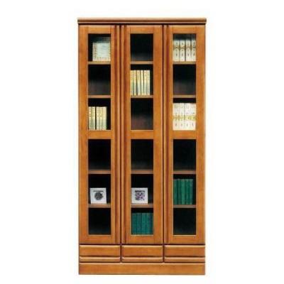 書棚 幅90cm ブラウン 木製 ジェロ 90 H 書棚