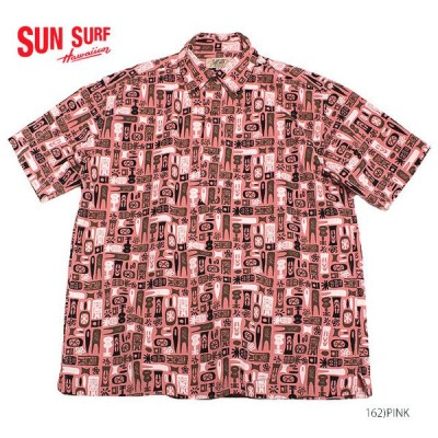 """SUN SURF by Masked Marvelサンサーフ×別注 アロハシャツCOTTON P/O SHIRT""""TIKI ALLOVER""""Style No.SS38150MGPO"""