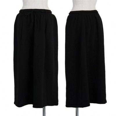 ワイズY's ウールドローコードベルトニットスカート 黒2 【レディース】