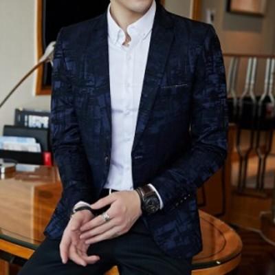 【BIG SALEクーポン利用可】テーラードジャケット メンズ ブレザー スーツ1ツボタンジャケット ビジネス タイリッシュ フォーマル カジュ