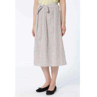 HUMAN WOMAN / ヒューマンウーマン 綿シルクネップリボンスカート
