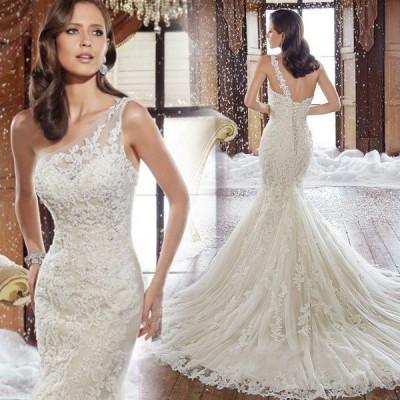 マーメイドドレス ウエディングドレス 安い ロングドレス 結婚式 ブライダル ウェディングドレス 二次会 マーメイドラインドレス バックレス wedding dress