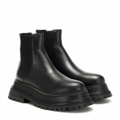 バーバリー Burberry レディース ブーツ ショートブーツ シューズ・靴 Leather ankle boots Black/Black
