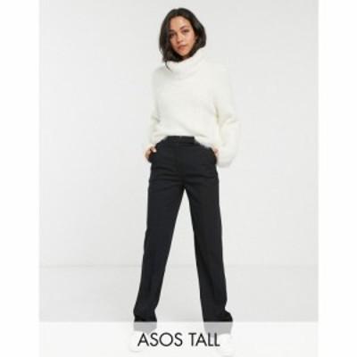 エイソス ASOS Tall レディース ボトムス・パンツ ASOS DESIGN Tall tailored straight leg trousers ブラック
