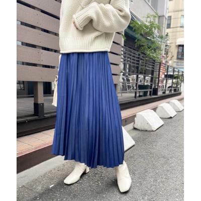 【ウエストゴム仕様】デニムアコーディオンプリーツスカート