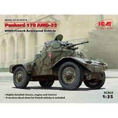 ICM 1/35 フランス パナール AMD35(178)装甲車【35373】 プラモデル H 35373 パナールAMD35 【返品種別B】