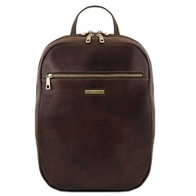 Tuscany Leather Osaka Leather laptop backpack - TL141711 (Dark Brown)