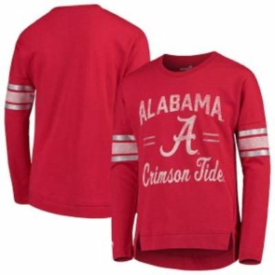 Outerstuff アウタースタッフ スポーツ用品  Alabama Crimson Tide Girls Youth Crimson Team Captain Long Sleeve Slub T