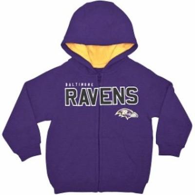 Outerstuff アウタースタッフ スポーツ用品  Baltimore Ravens Toddler Purple Fan Gear Stated Full Zip Hoodie