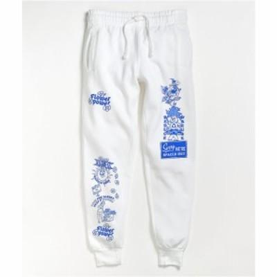 ユアハイネス YOUR HIGHNESS レディース ジョガーパンツ ボトムス・パンツ Your Highness Flower Power White Jogger Sweatpants White