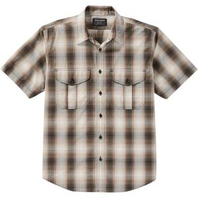 フィルソン メンズ シャツ トップス Filson's Feather Cloth Shirt Beige Brown/Black